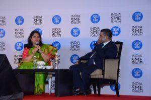 ISF President Shri Vinod Kumar in conversation with Smt. Ranjana Naik,  Founder, Swan Suites
