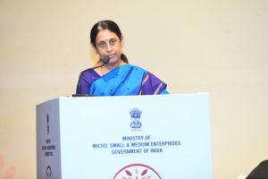 Smt. Usha Suresh, CMD, NSIC and Financial Advisor, KVIC addressing the Delegates