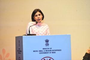 Smt. Preeta Verma, CEO, KVIC addressing the Delegates