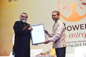 Felicitation of Shri Ram Mohan Mishra, Additional Secretary & Development Commissioner, Ministry of MSME By Shri Prahlad Kakar, Chairman India SME Forum